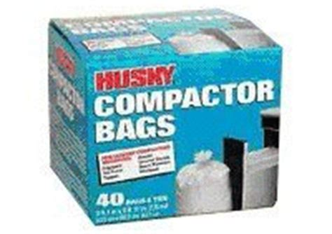 garbage compactor bags husky trash compactor bags