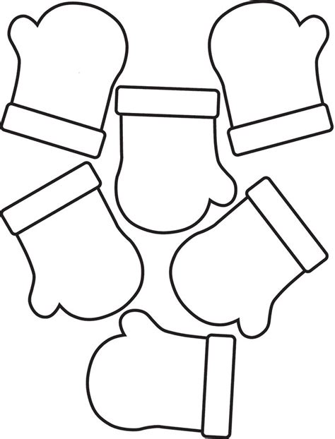 preschool mittens coloring page mittens coloring pages free printables pinterest