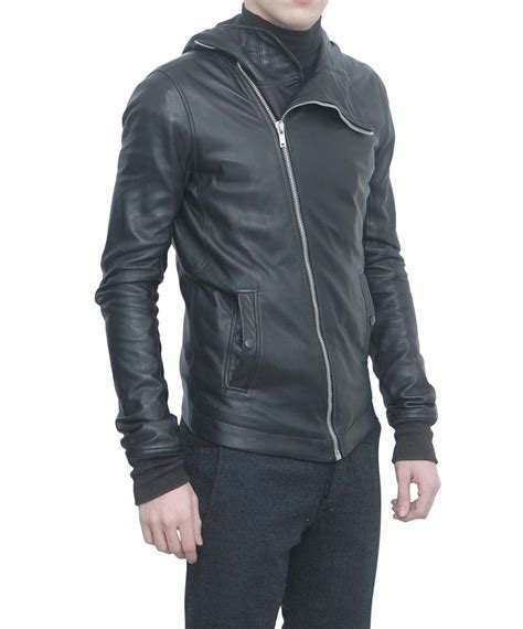 bullet for my jacket rick owens leather bullet jacket in black for lyst