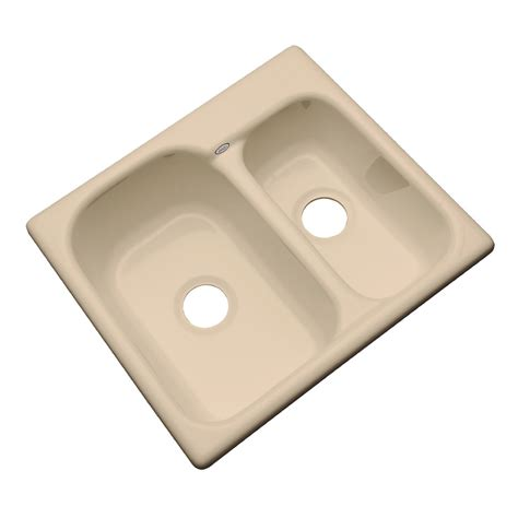 acrylic undermount kitchen sinks shop dekor master double basin undermount acrylic kitchen