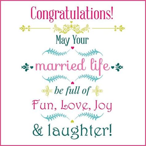 Wedding Nuptials Congratulations by Congratulations May Your Married Be Of