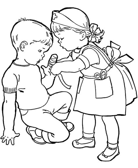 coloring picture of helping others coloring pages