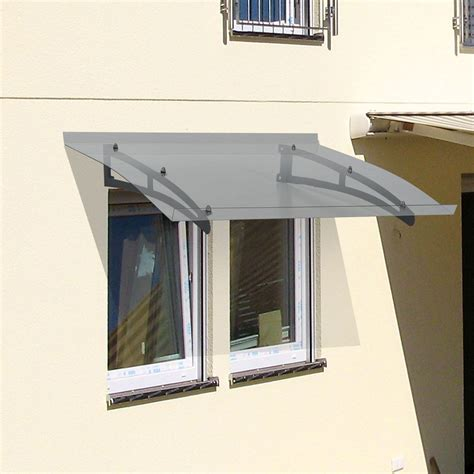 clear plastic awnings outsunny 32 quot x 40 quot acrylic glass exterior door awning
