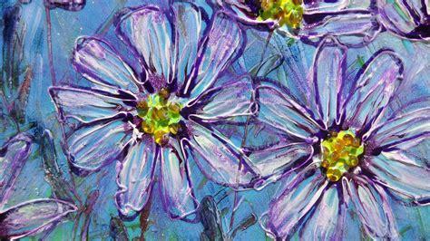 fiori margherite fiori viola margherite vendita quadri quadri