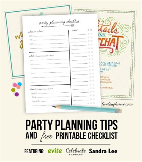 printable party planning checklist party planning tips printable checklist live laugh rowe
