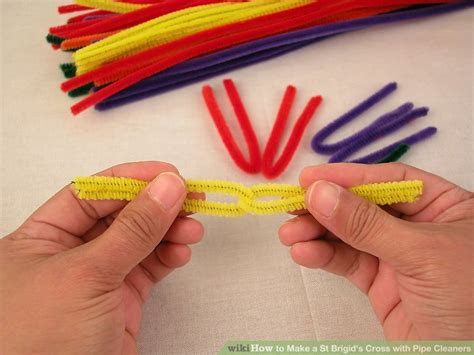 with pipe cleaners how to make a st brigid s cross with pipe cleaners 11 steps