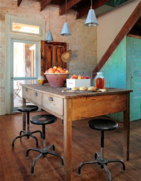 rustic kitchen island table zuniga interiors kitchens a blend of new with vintage