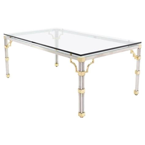 Drop Leaf Conference Table Chrome Glass Dining Conference Table With Drop Leaf Extensions Self Containing For Sale At 1stdibs