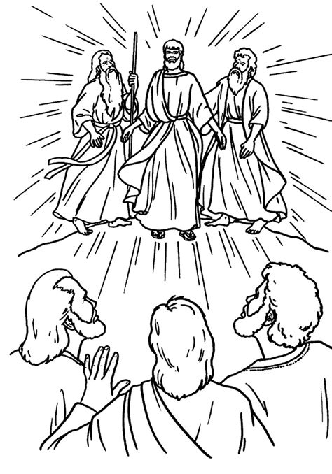 the transfiguration catholic coloring page the