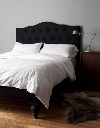 black fabric headboard best 25 black headboard ideas on