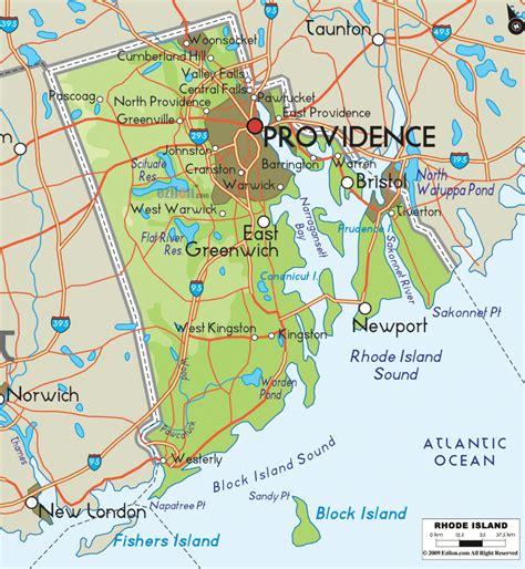 rhode island on map rhode island metro map travelsfinders