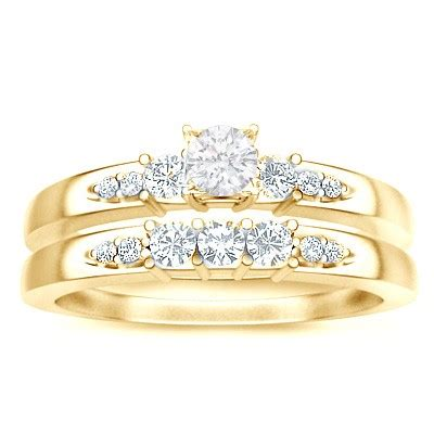 White Yellow Flower 30401 bridal set on jeenjewels
