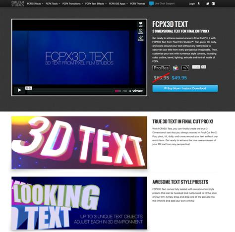 final cut pro text new 3d text plugin for final cut pro x released by pixel
