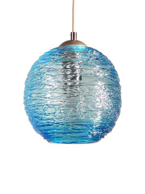 Aqua Pendant Lights Spun Glass Globe Pendant Light In Aqua By Zhukov Glass Pendant L Artful Home