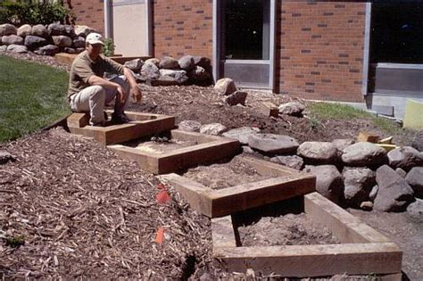 Landscape Timbers On A Hill Pictures Of Landscape Timber Steps Pdf