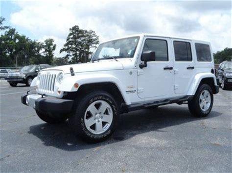 white jeep sahara tan interior buy used unlimited sahara 4x4 low miles white tan leather
