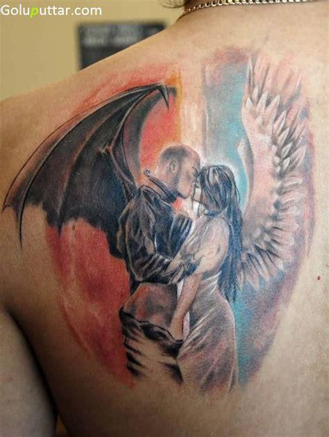 devil angel tattoo back tattoos