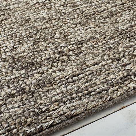 looped wool rug looped texture wool rug west elm