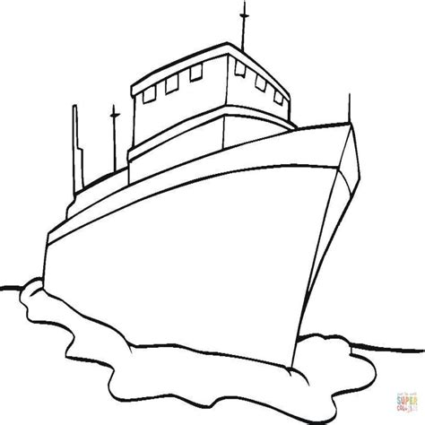 dibujo barco para colorear e imprimir dibujo de buque para colorear dibujos para colorear