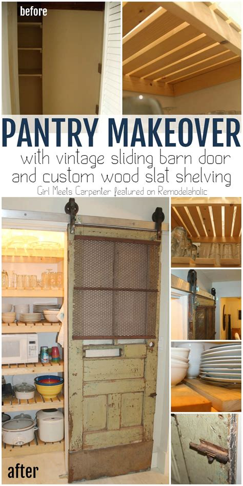 Closet Spice Rack Remodelaholic Sliding Barn Door Pantry Makeover With
