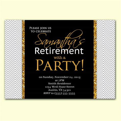 retirement party invitation template party invitations