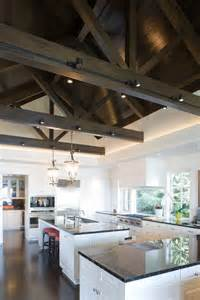 Attractive Wood And Stainless Steel Kitchen #1: Beam-lighting-ideas-kitchen-contemporary-with-kitchen-island-dark-stained-wood-floor-stainless-steel.jpg