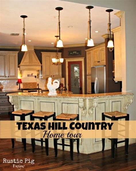 kitchen design hton hill love the cabinets and island texas hill country home tour