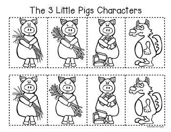 3 little pigs retelling a story storyboard and character fun