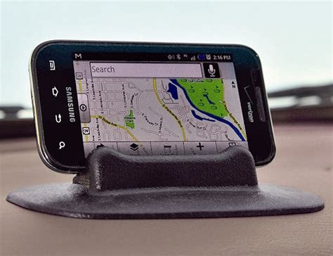 high road dash stand car cell phone holder black