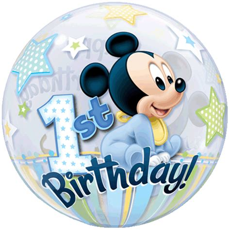 Wedding Decoration Home by 22 Mickey Mouse Baby 1st Birthday Bubble Balloon 189 P Gif
