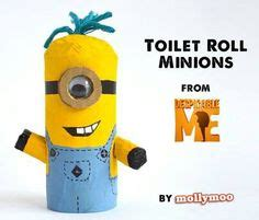 Minion Toilet Paper Roll Craft - despicable me goodies on despicable me