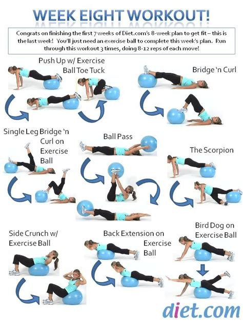 printable exercise ball routines week 8 s workout plan uses an exercise ball let us know