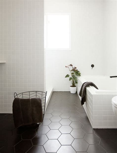 1 hex tiles bathroom floor best 25 hexagon tile bathroom ideas on