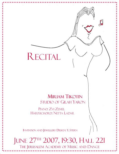 recital program template piano images