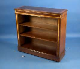 antique style small mahogany open bookcase for sale