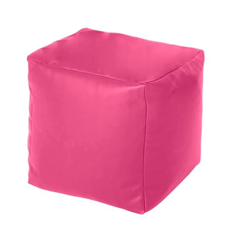 bean bag square stool pink faux leather cube bean bag pouffe foot stool beanbag