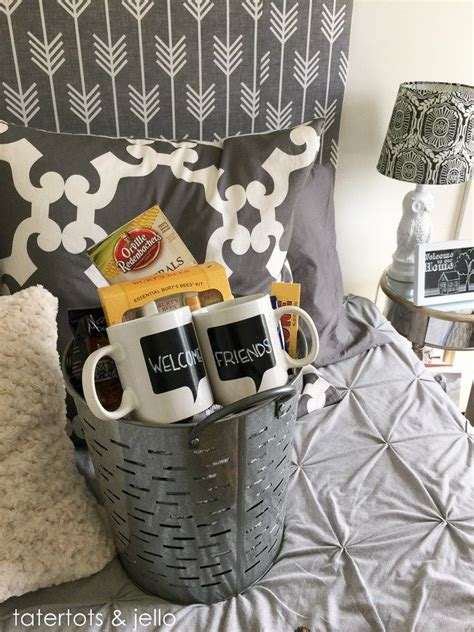 bedroom designs small spare ideas wedding welcome gift best 25 guest welcome baskets ideas on pinterest 713 | 530d743f9b5db278d198f677fcf3334c guest welcome basket bedrooms guest welcome baskets