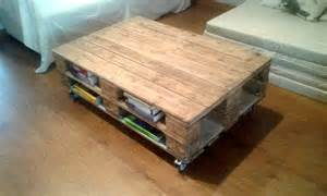 pallet coffee table with book storage 101 pallets