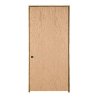 home depot prehung interior door jeld wen woodgrain flush unfinished oak single prehung