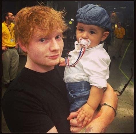 ed sheeran baby see pics of cute guys holding babies 10 m magazine