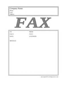 big gray fax cover sheet openoffice template