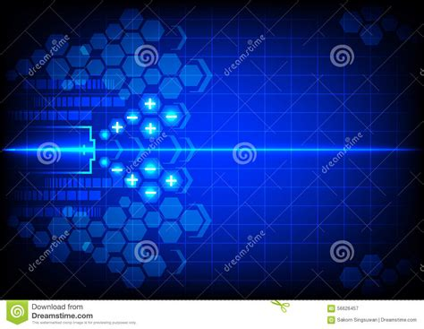 battery color abstract battery energy on blue color background stock