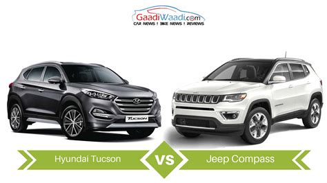 hyundai jeep jeep compass vs hyundai tucson specs comparison