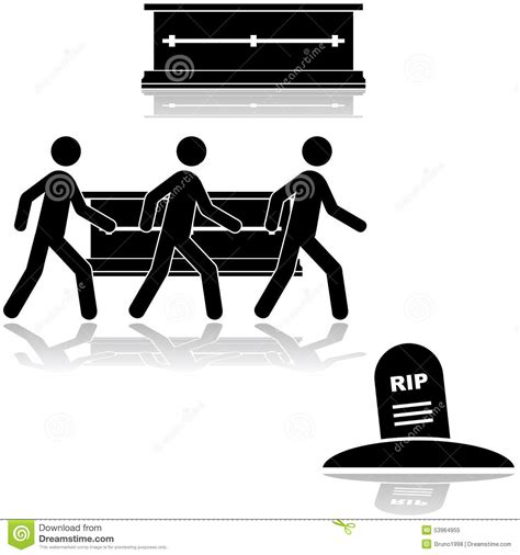 funeral ceremony stock vector image 53964955