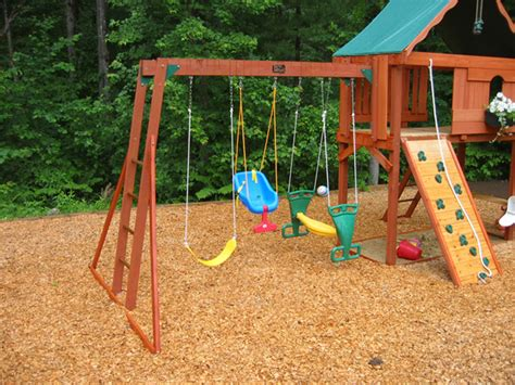 backyard playground mulch permagreen organics