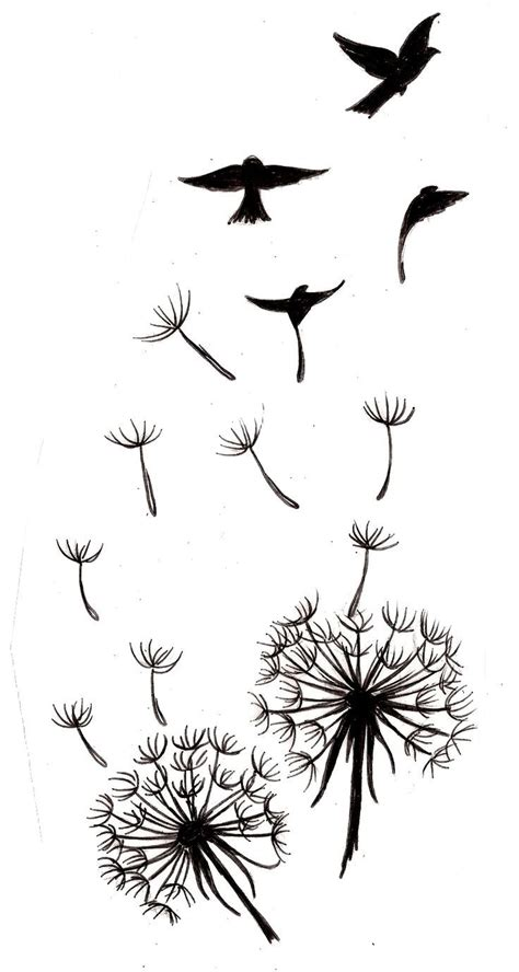 silhouette tattoo designs 49 best images about dandelion on bird