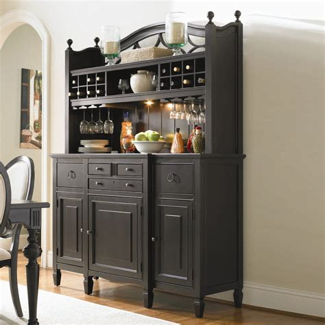 Buffet Table With Hutch Summer Hill Serving Bar Hutch Buffet Table Midnight