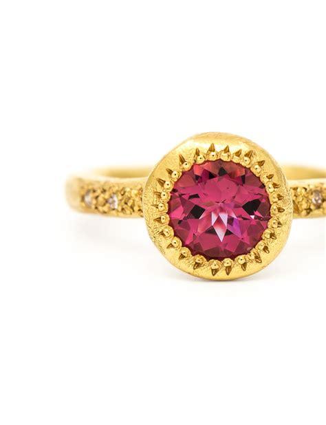 pink tourmaline pledge ring e g etal melbourne