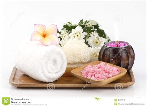spa images spa treatment with sea salt royalty free stock images