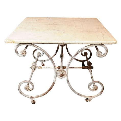 marble top butcher pastry table for sale at 1stdibs